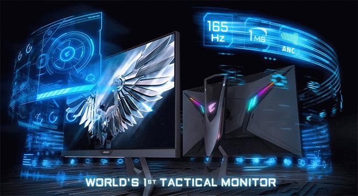 技嘉推出显示器AORUS F127Q 采用27英寸屏幕建议零售价为549.99美元